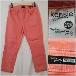 Kensie Jeans You Look Skinny Jeans Coral